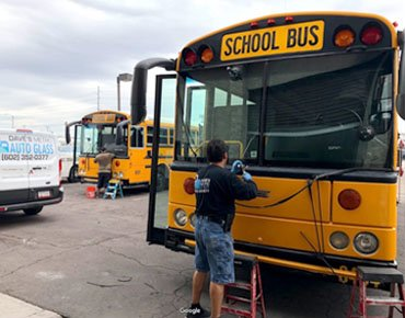 Bus Windshield Replacement